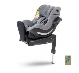 Fotelik samochodowy Avionaut AeroFIX RWF Soft Line dla dzieci 0-17.5kg + Baza IQ